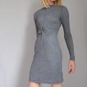 INTROPIA Grey twist dress GREY