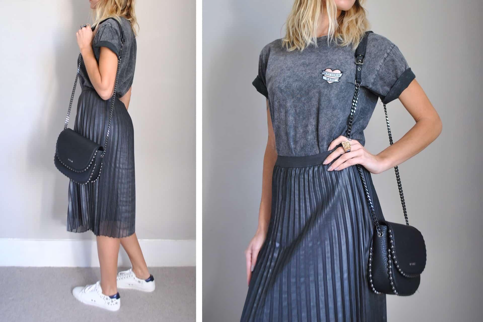 Metallic-skirt