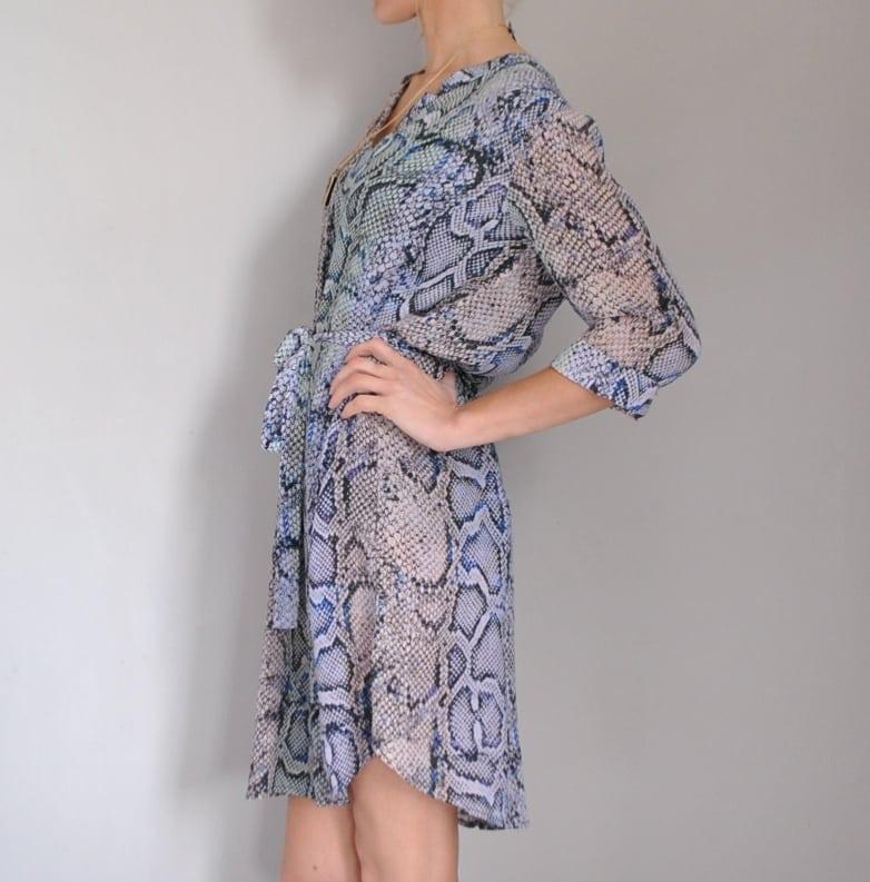 Pyrus snake print shirt dress