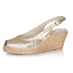 MACARENA Ana metalic leather wedges METALIC