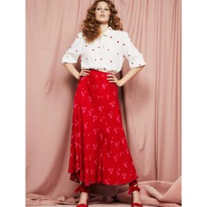 FABIENNE CHAPOT Gina embroidery blouse RED